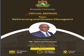 VIRTUAL SEMINAR: Referencing And Citation Management