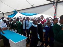 High School Students at KU tent during Embu County Career fair