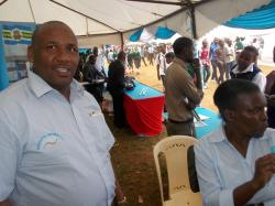 Mr kenneth Njoroge-CCDP Senior advisor during Embu County Career Fair