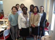 Dr. Nyamu with other guests during a visit to Nagoya UNiversity-Japan for HeForShe Seminar