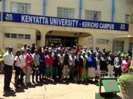 Kericho Campus students with staff from main campus