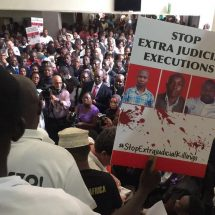 Stop extra Judicial Killings, Lawyers commence the boycotts