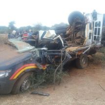 Police officer die after lorry rams into their car