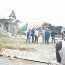 50 families displaced as private developer flattens their houses