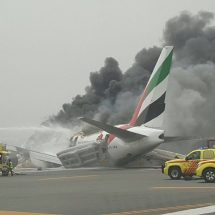 Plane crashes at the airport