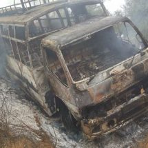 Two matatu's torched by residents