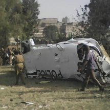 Four injured after police chopper crashes in Mathare