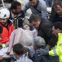 Girl pulled from rubble is only survivor after airstrike kills her family