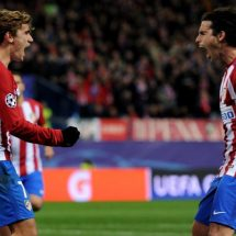 Gameiro, Griezmann strike to give Atletico perfect record