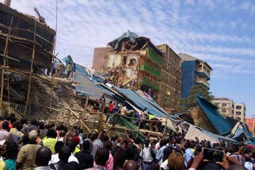 Scores of people injured after 13-storey building collapses in Kisii
