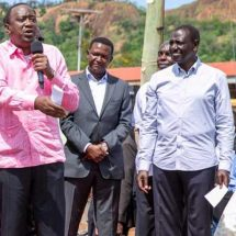 Uhuru launches 'major artery' road in Kitui