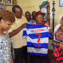 Uhuru Kenyatta and First Lady honor Kadenge's plea