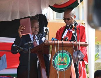 Samuel Wamathai sworn in as Nyeri Governor for the rest of the term
