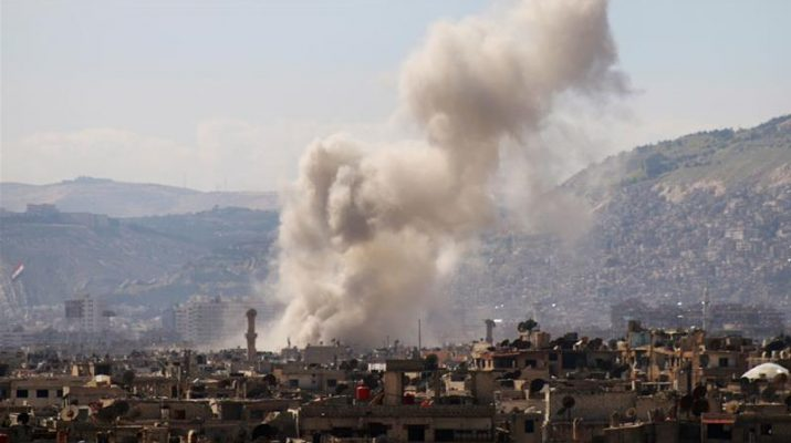 Air raids on east Damascus after rebel assault