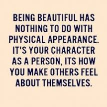 The beauty of a woman goes beyond physical appearance