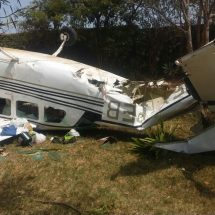 Light aircraft carrying Royal Media Services  crew from Wilson Airport crash in Kibera