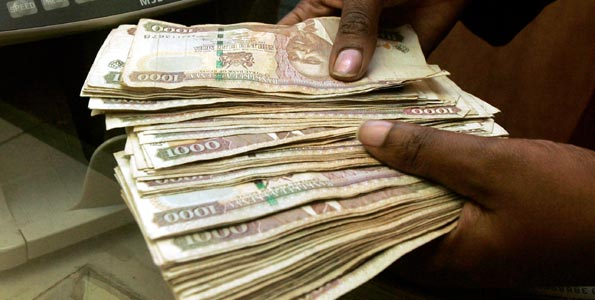Shilling value to the dollar shrinks
