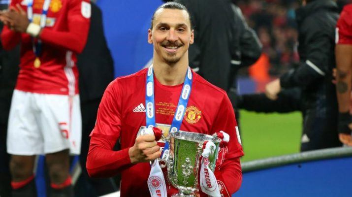 Ibra with EFL cup