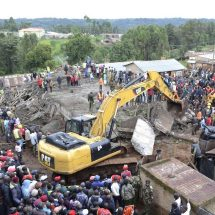 40 workers rescued from the collapsed Kapsabet building