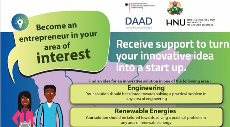 Call for Applications: Receive support to turn your innovative idea into a start up: KU-HNU-DAAD