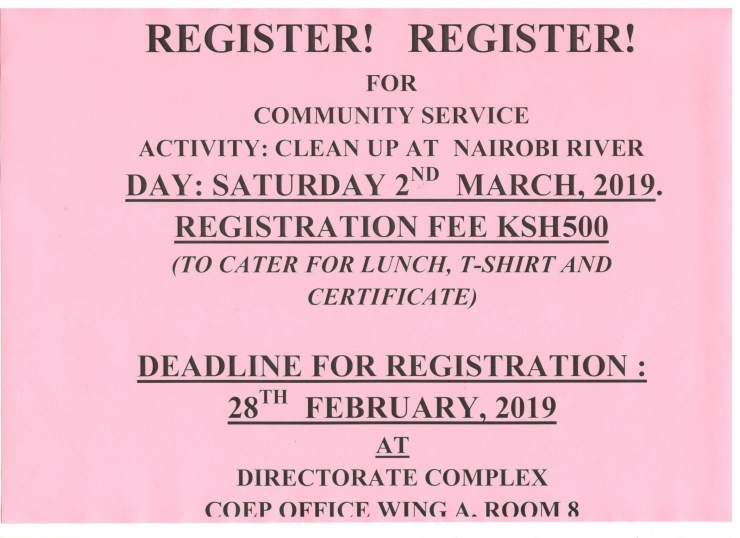Nairobi River Clean Up: Register!