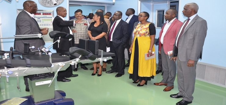 Parliamentary Committee on Health led by Hon. Sabina Chege tours the Kenyatta University Hospital to see the progress