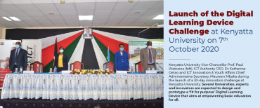 LAUNCH OF THE DIGITAL LEARNING DEVICE CHALLENGE AT KU