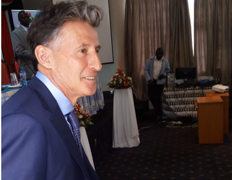 IAAF President, Lord Sebastian Coe Makes a speech at the IAAF U18 Pre-games International Symposium at Kenyatta University