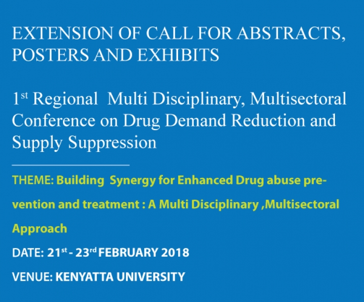 1st Regional  Multi Disciplinary, Multisectoral  Conference on Drug Demand Reduction and Supply Suppression