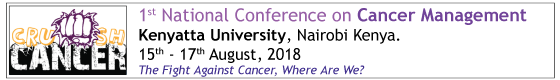 National Conference on Cancer Date: 15th -17th, August 2018