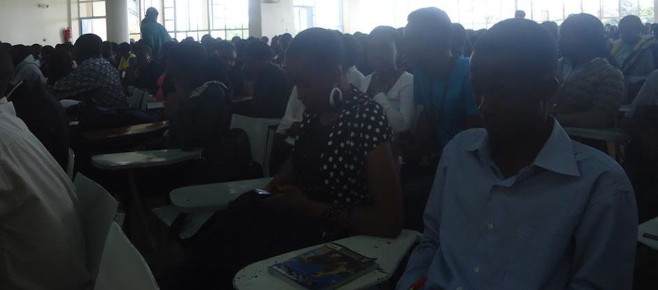 Students during the First years' orientation